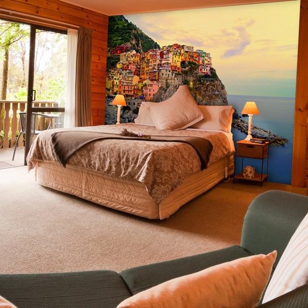 Interior decorado con Fotomural Cinque Terre Coast 130