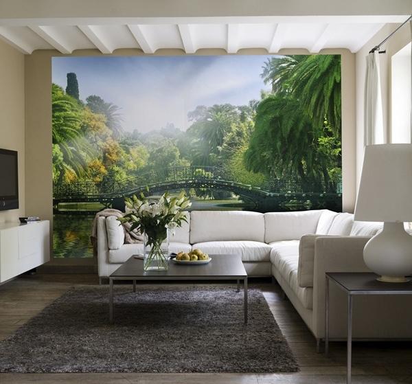 Interior decorado con Fotomural Bridge in the Sunlight 132