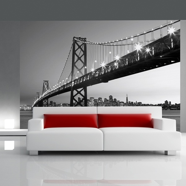 Interior decorado con Fotomural San Francisco Skyline 134