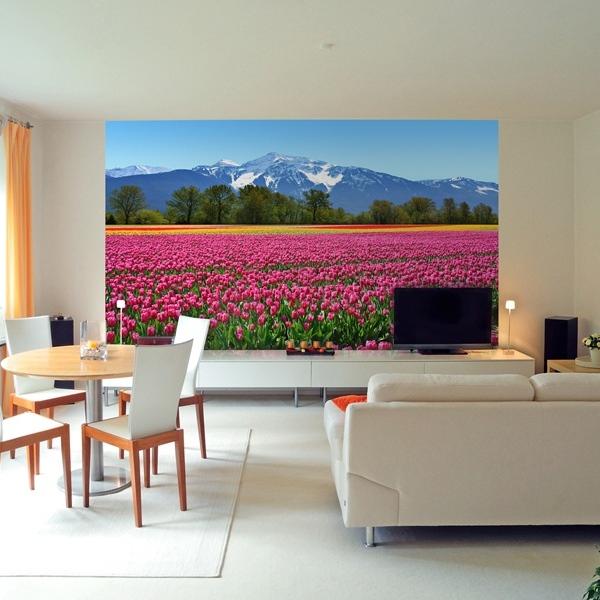 Interior decorado con Fotomural Tulips 137