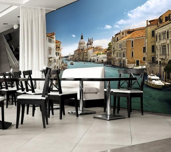 Interior decorado con Fotomural Canal Grande Venice 146