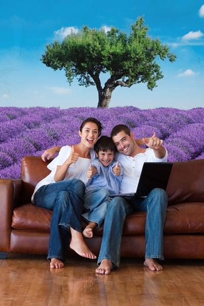 Interior decorado con Fotomural  Provence 309