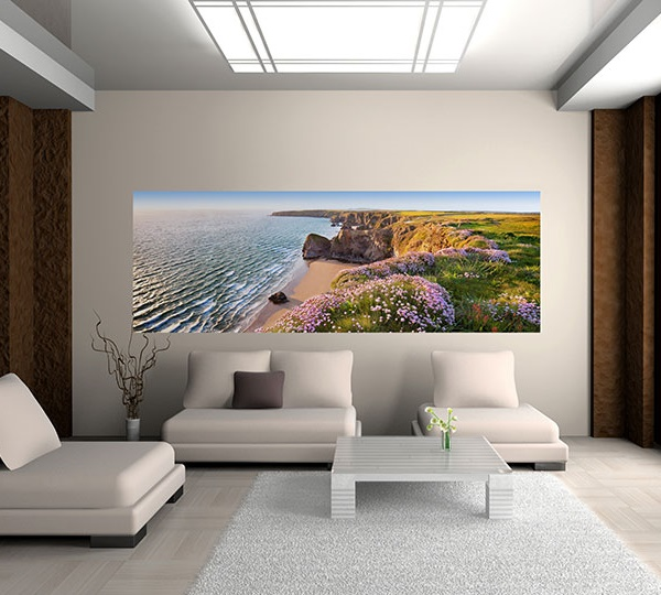 Interior decorado con Fotomural Nordic Coast  382