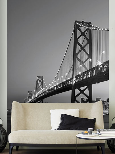 Interior decorado con Fotomural  San Francisco Skyline 387