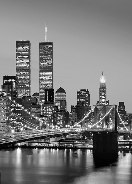 Fotomural Manhattan Skyline  at Night 38
