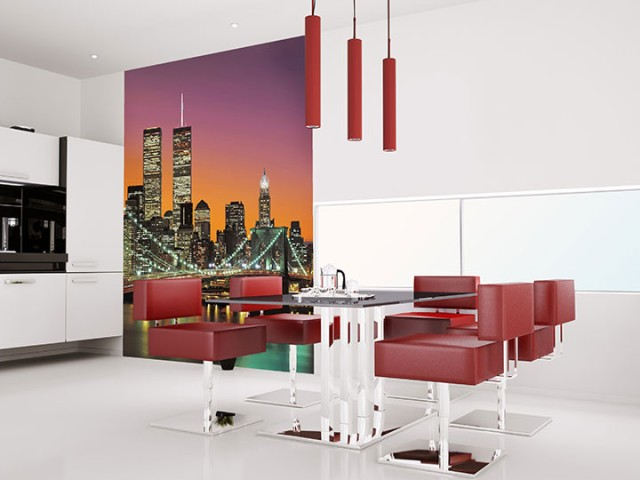 Interior decorado con Fotomural New York City 389