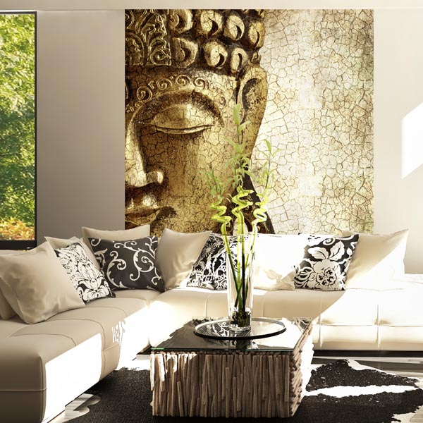 Interior decorado con Fotomural ANCIENT BUDDHA 183