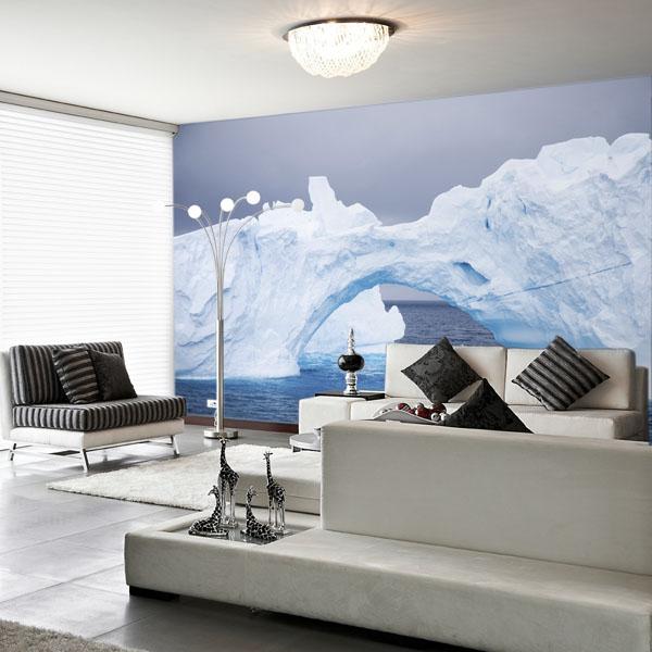Interior decorado con Fotomural ARC OF ICE 97