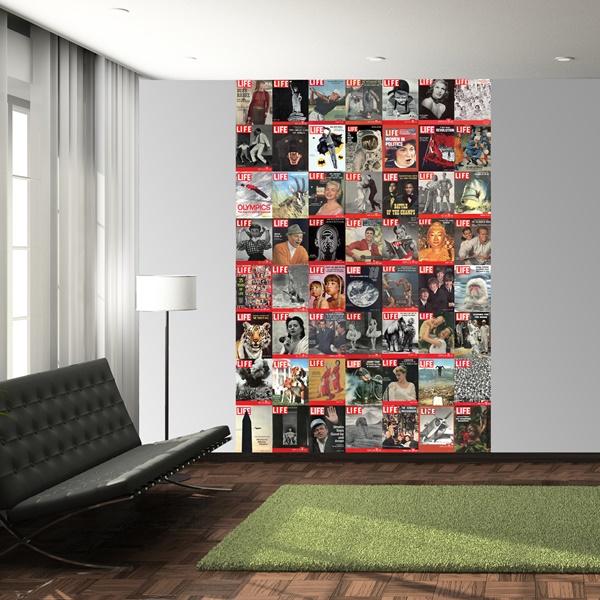 Interior decorado con Fotomural W2PL LIFE 001