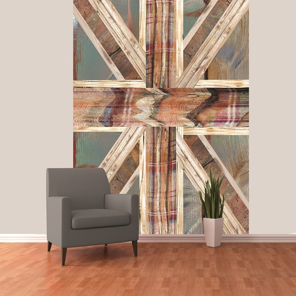 Interior decorado con Fotomural W2P UNIONJACK 001