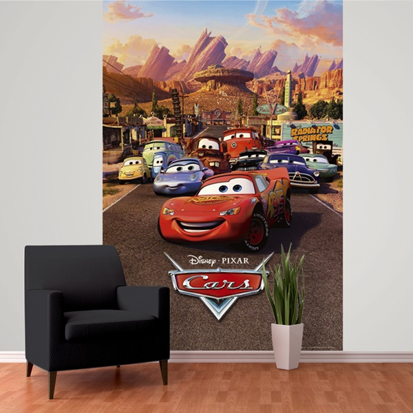 Interior decorado con Fotomural W2PL CARS 001