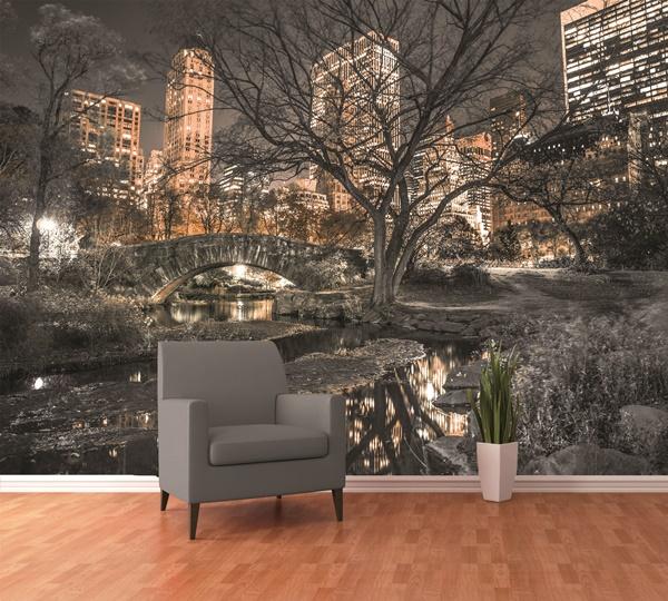 Interior decorado con Fotomural W4P Central Park 001