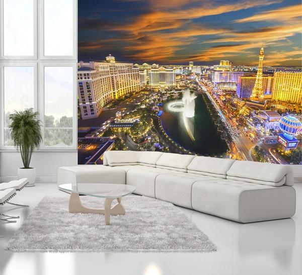 Interior decorado con Fotomural W4P LAS VEGAS 001