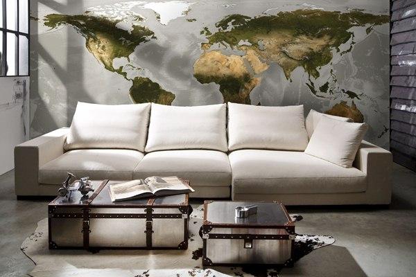 Interior decorado con Fotomural World V10-778