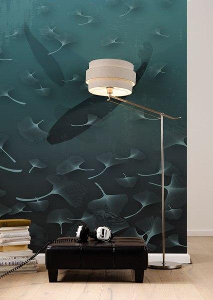 Interior decorado con Fotomural Ginkgo V4-759