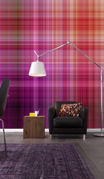 Interior decorado con Fotomural Lightlines V4-768