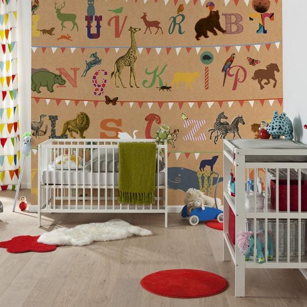 Interior decorado con Fotomural T Wie Tiger V5-782