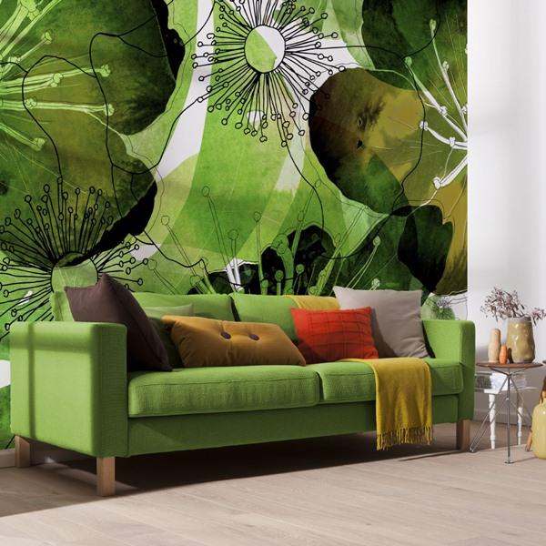 Interior decorado con Fotomural Aquarell V7-757