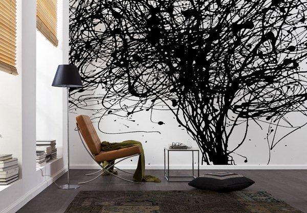 Interior decorado con Fotomural Curls V7-758