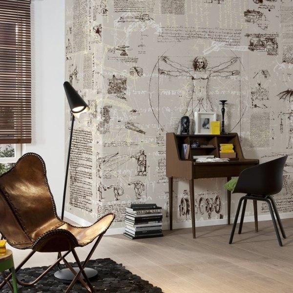 Interior decorado con Fotomural Da Vinci V8-764