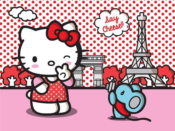 Fotomural Hello Kitty Paris FT xxl 1473