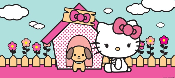Fotomural Hello Kitty & Dog FTG 0937