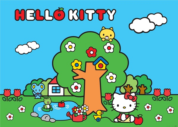 Fotomural Hello Kitty Forest FTM 0854
