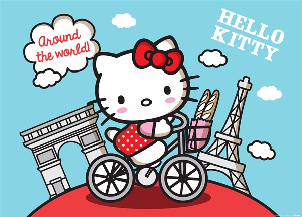 Fotomural Hello Kitty Around the World FTM 0856