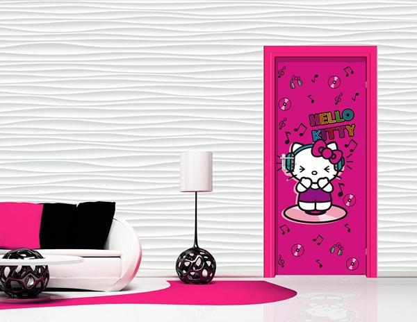 Interior decorado con Fotomural Hello Kitty Music FTV 1531