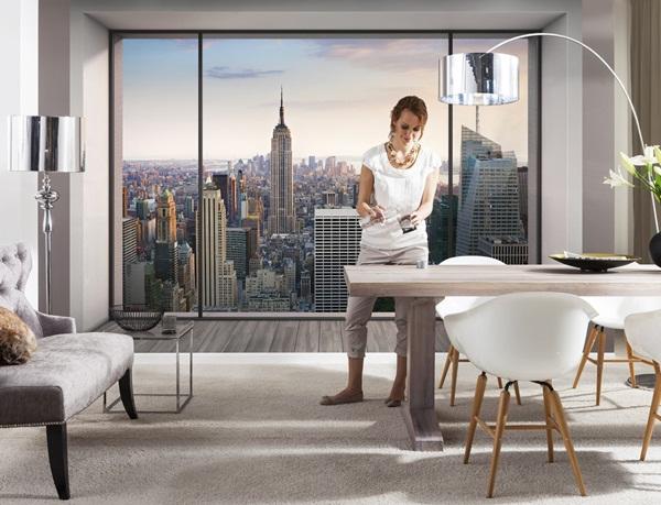Interior decorado con Fotomural Penthouse 8NW-916