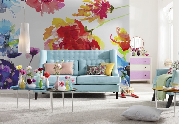 Interior decorado con Fotomural Passion 8NW-917