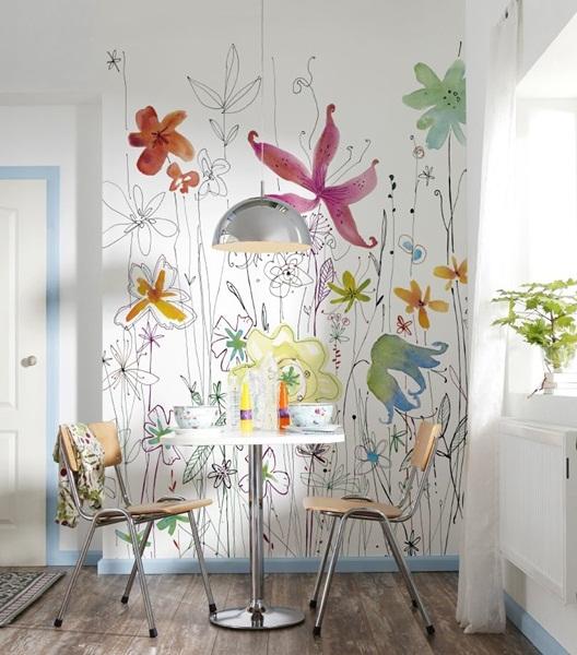 Interior decorado con Fotomural Joli XXL2-022