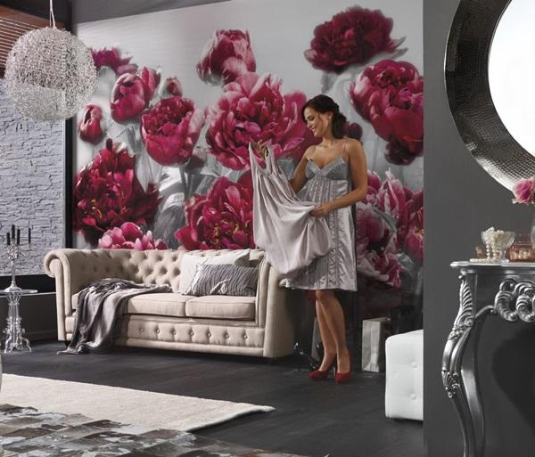 Interior decorado con Fotomural Temptation XXL4-002