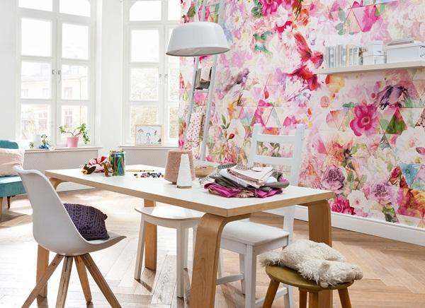 Interior decorado con Fotomural Prisma XXL4-019