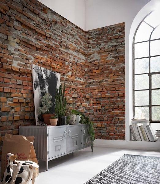 Interior decorado con Fotomural Bricklane XXL4-025