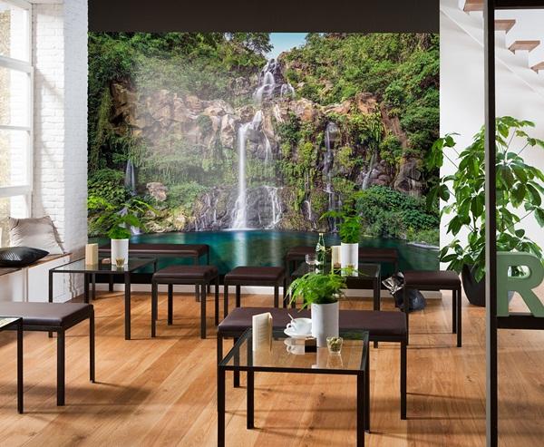 Interior decorado con Fotomural Cascade XXL4-026