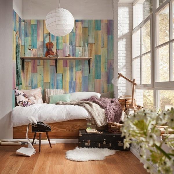 Interior decorado con Fotomural Bazar XXL4-028