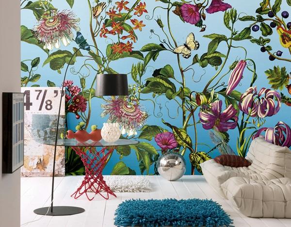 Interior decorado con Fotomural Jardin XXL4-029