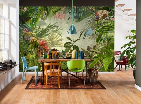 Interior decorado con Fotomural Into the Wild XXL4-031