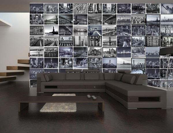Interior decorado con Fotomural Creative Collage The Big Apple