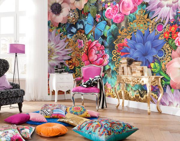Interior decorado con Fotomural Melli Mello Kevana 8-972